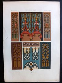 Racinet L'Ornament Polychrome 1873 Design Print. Middle Ages 61